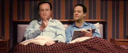 Cameron & Clegg in bed together