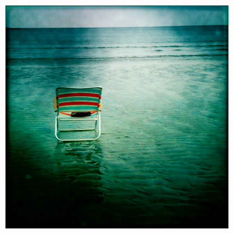 beach chair at goose rocks beach