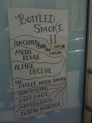 The Sunday afternoon Bottled Smoke II lineup