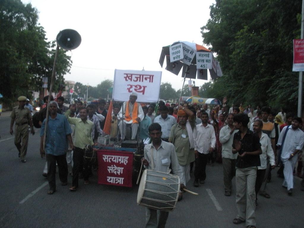 Pics from the satyagraha - 12 Oct 2010 - 4