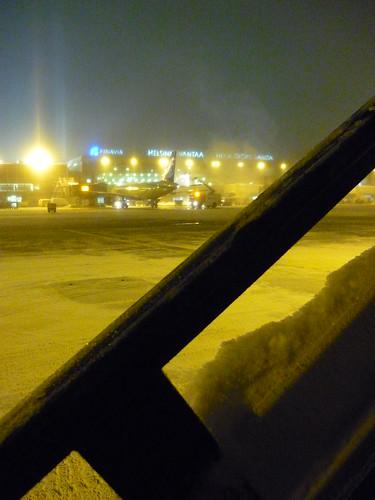Helsinki airport by night