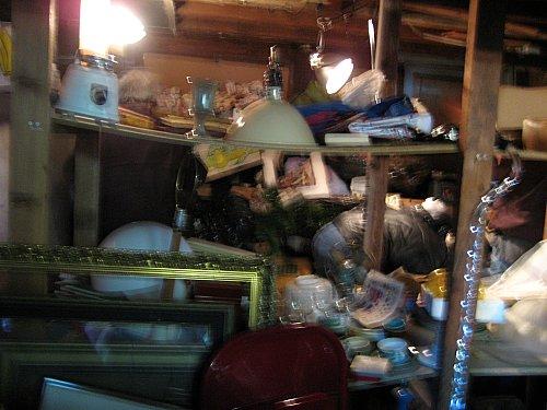 Garage sale shelves