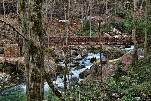 Footbridge over the Rushing Creek