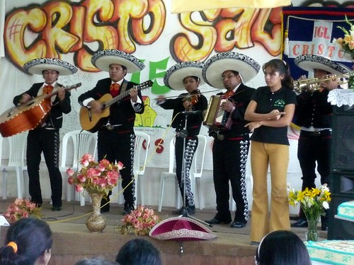 Mariachi band; their songs were signed for the deaf