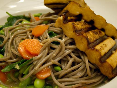 Soba noodle salad & grilled tofu