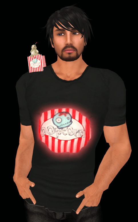 Zombie Popcorn HQ #1 ZMH t-shirt and popcorn bag hunt prize