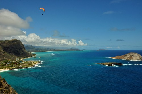 Paragliding Over Waimanalo Bay