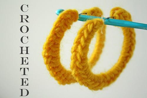 Crocheted Hoop Earrings