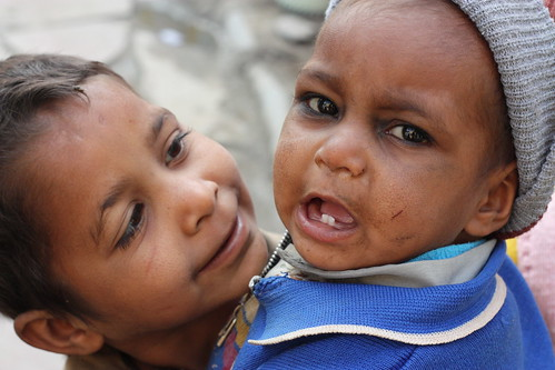 Children on Agra Village