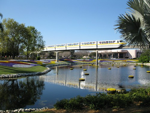 Monorail and gardens