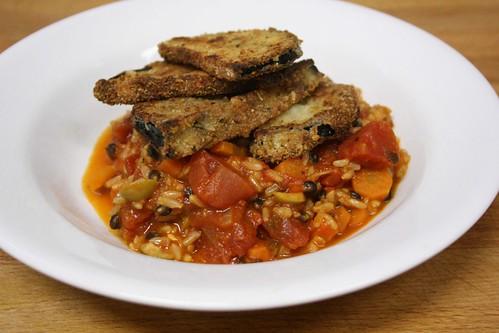 Wild Rice with Tomatoes and Eggplant