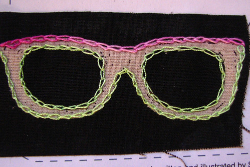 chain stitch close up