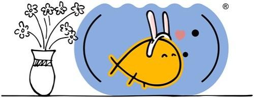 Peixim do .marcamaria feliz, usando orelhinhas de coelho