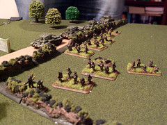 Desert Rats advance on the village