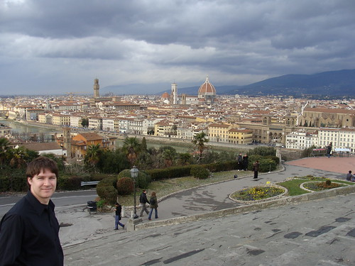 Portrait of the Author on the Steps of Piazzale Michelangelo