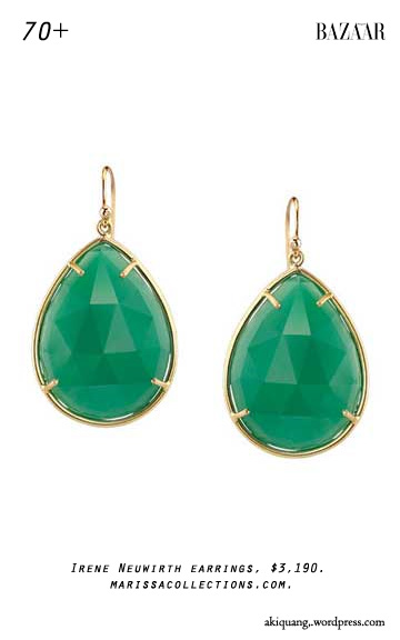 Irene Neuwirth earrings, $3,190. marissacollections.com.