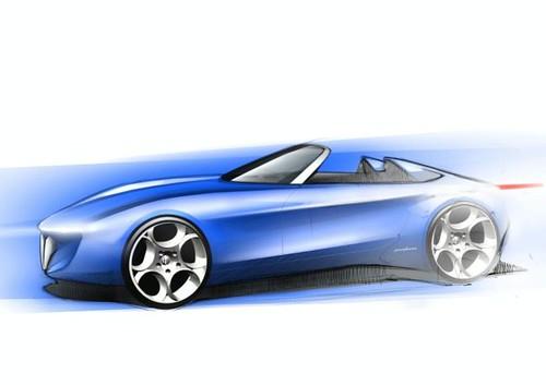 Pininfarina Alfa Romeo Spider Concept design sketch