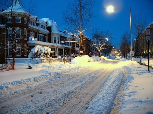 Monroe Street After Blizzard