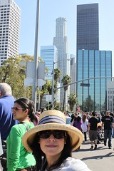 Esther Poses While in Line at LA Street Food Fest
