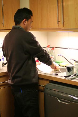 Dhruv Washing Dishes