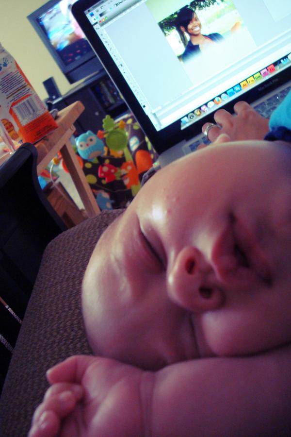 sleeping while i work