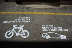 'This one runs on fat & saves you money' by Pe...