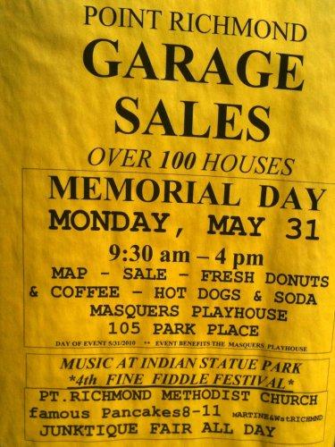 Point Richmond Garage Sales flyer