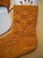 Knit Love Club 2010 #1 - Rumpled WIP