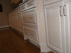 Drawers, cabinets, and a long countertop