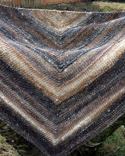 Boneyard Shawl Finished