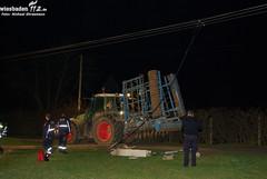 Traktor gegen Strommast Kostheim 23.03.10