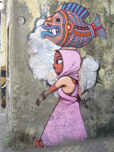 Art on the walls of Bandra, Mumbai