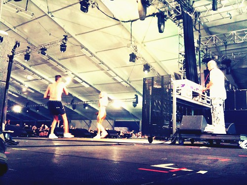 From behind: @dieantwoord on stage