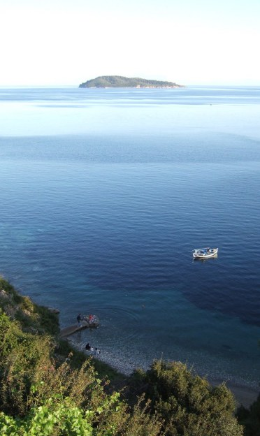View from the Amfiliki restaurant, Skiathos
