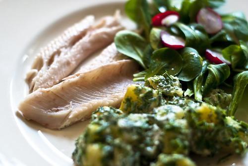 Smoked trout, potato salad