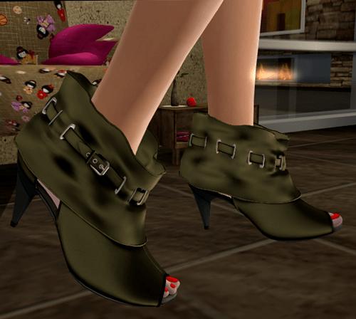 [M2M] Chloe Olive Studded Ankle::..