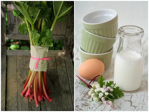 Rhubarb Eggs and Cream