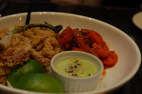 Fried Sesame Squid - Drake kimchi, charred scallion mayo