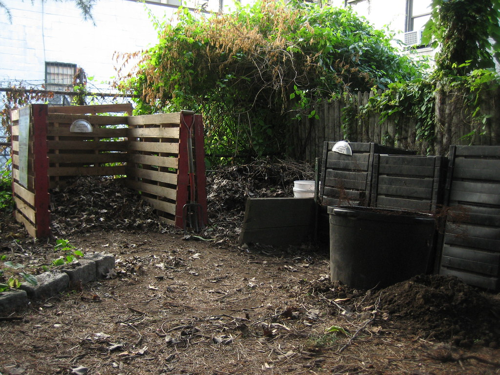 a view of the entire composting area