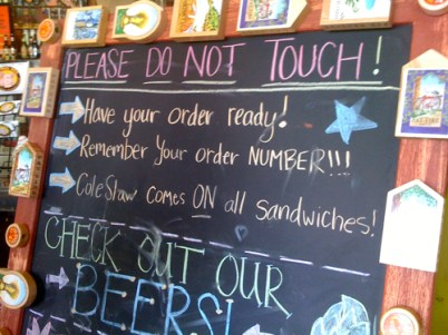 The rules at Central Barbecue