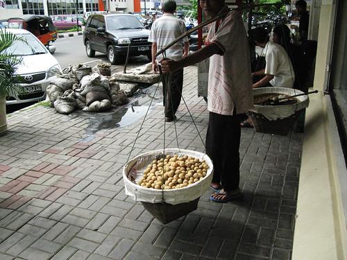 A Street Merchant in Jakarta