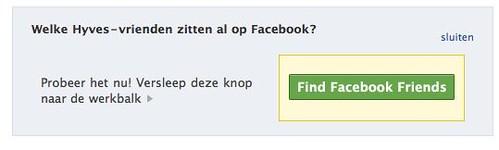 Actie van Facebook