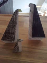 Origami penguin family