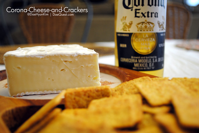 Corona, Cheese, and Crackers