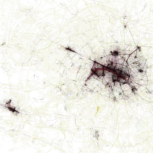 The Geotaggers' World Atlas #3: Paris by Eric Fischer.