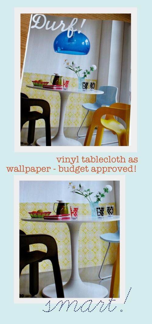 Vinyl Tablecloth As Wallpaper?
