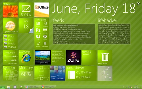 Old green desktop