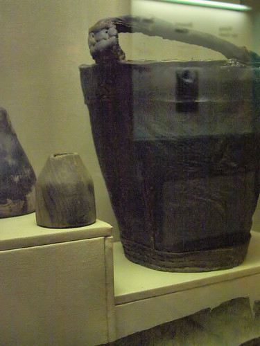 Reconstructed Mary Rose leather bucket