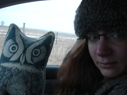 Jerome the Stuffed Owl with Yours Truly
