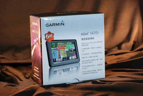 Garmin Nuvi 1470T,圖示上用了跟 Apple 一樣的倒影效果